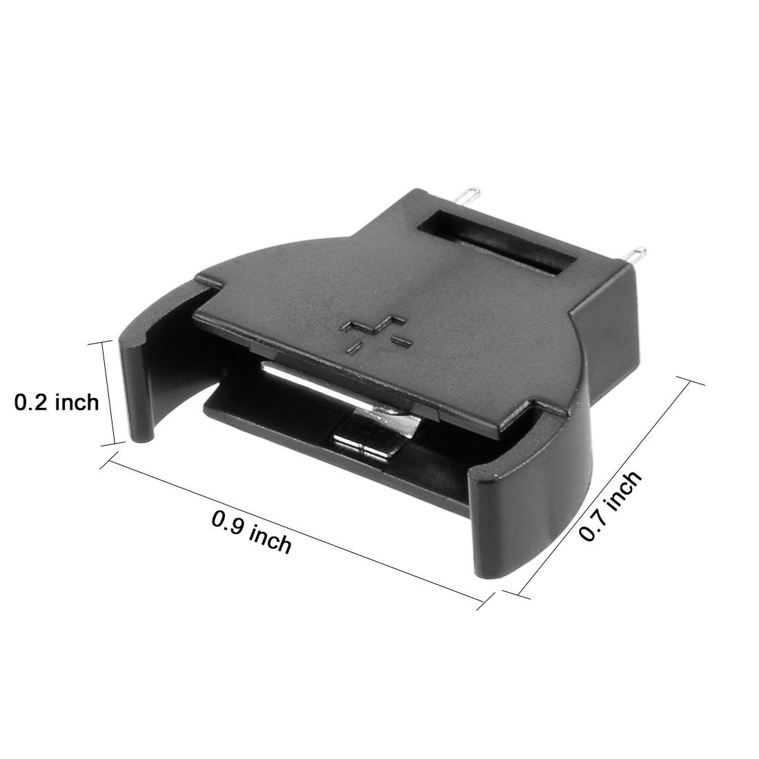 uxcell 3Pcs Plastic Vertical Button Cell Battery Holder for CR//LIR2032 2025