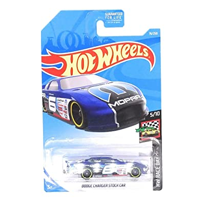 Hot Wheels 2020 HW Race Day Dodge Charger Stock Car 76/250, Blue: Toys & Games