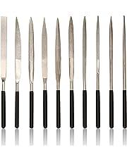 Diamond Needle File Set, Jewelers Hand Files Tool Kit for Metal Ceramic Stone Jewelry Rough Carving Glass Filing (10-Piece)