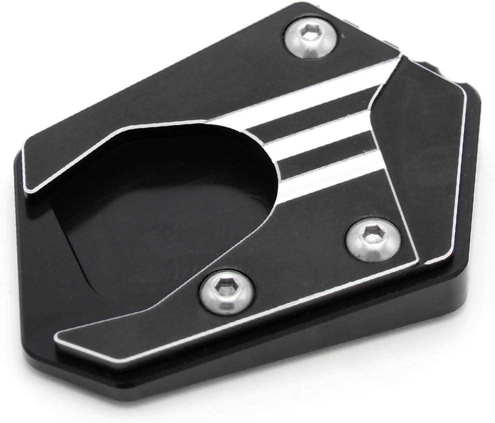Lasamot Piastra di Estensione del cavalletto Laterale Supporto di prolunga Accessori per motociclette Ricambio ingranditore in Alluminio CNC per Honda CBR650R CB650R CBR500R CB500F CB500X RX125 //