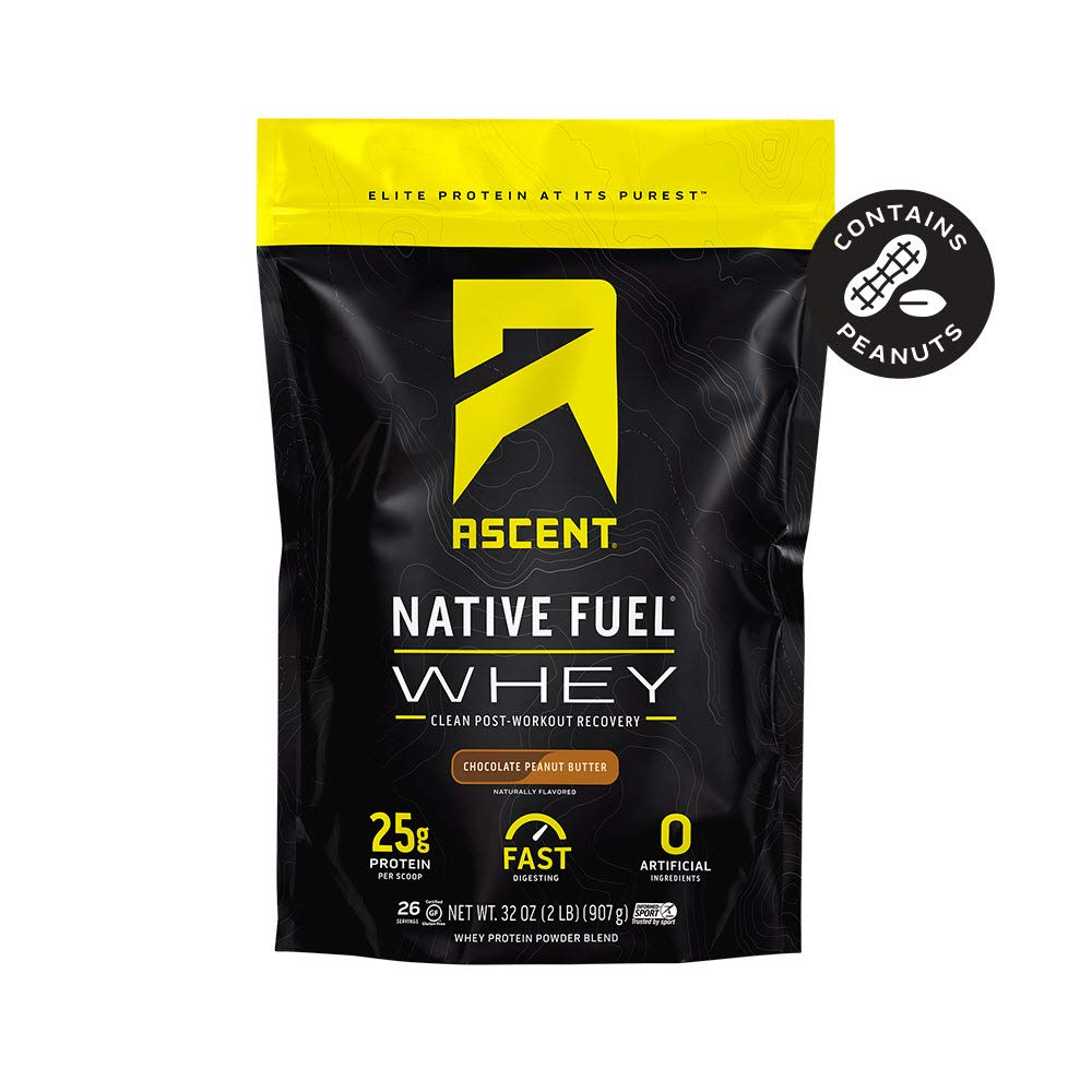 Ascent Native Fuel Whey Protein Powder - Chocolate Peanut Butter - 2 lbs by Ascent