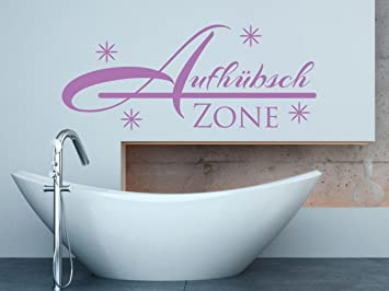 Wandtattoo Bilder® Wandtattoo Aufhübsch Zone Nr 2 Badezimmer Toiletten Wanddeko  Bad Aufkleber Bad