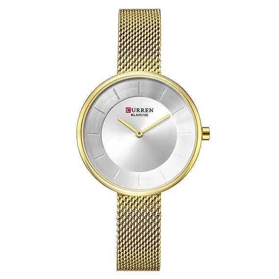 Amazon.com: CURREN - Reloj analógico de cuarzo para mujer ...
