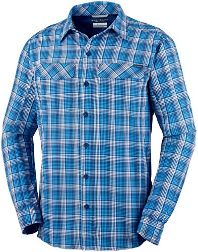Columbia Silver Plaid Men's Ripstop Shirt Sleeve Ridge Long Carbon rawr6COxq5