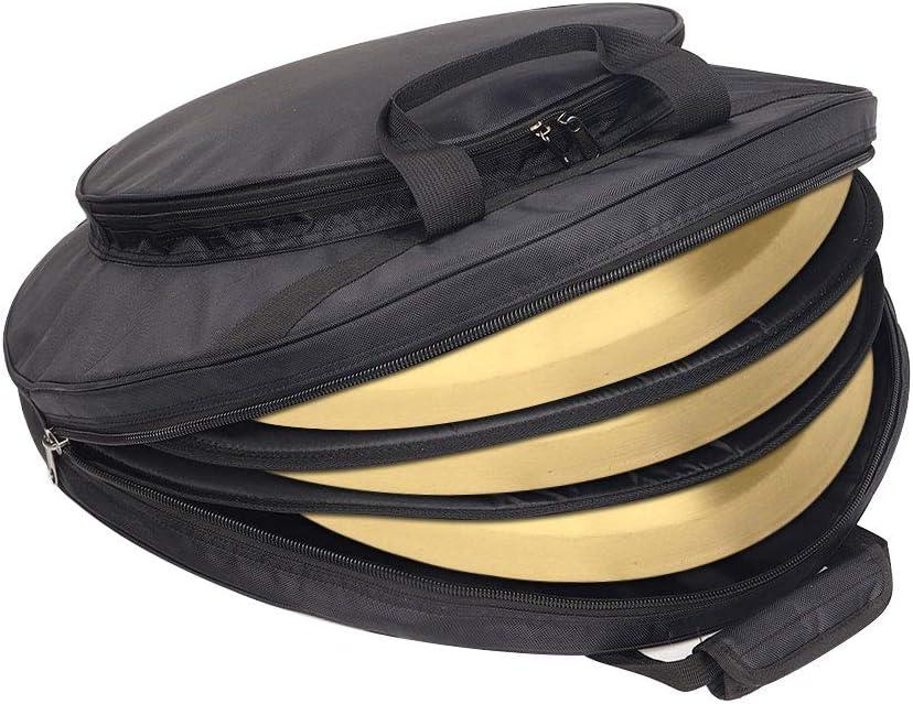Bolsa para platillos de hasta 22 de di/ámetro acolchada negra con correa para el hombro negro Cymbal Gig Bag