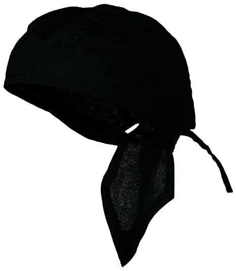 3b98578c6a7 Doo Rag Du Rag Do Cotton Bandana Head Wrap Solid Color Chemo Cap (Black)