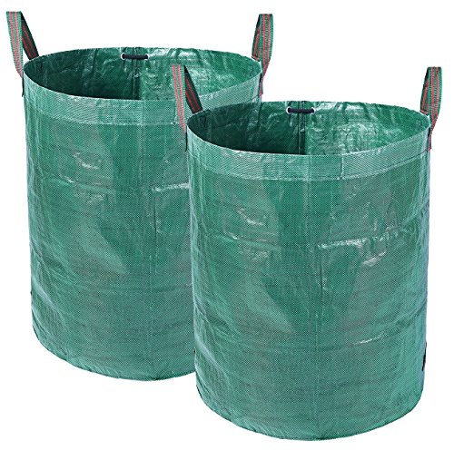 Ohuhu 2 PACK 72 Gallons Large Garden Waste Bags, Collapsible & Reusable Gardening Lawn Leaf (Ultra Pop Up Pools)