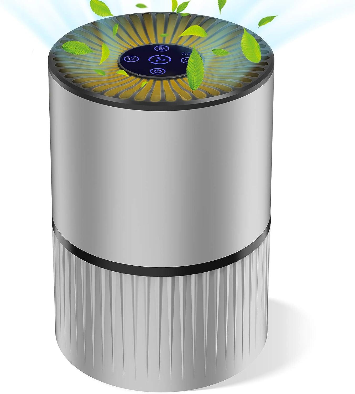 HEPA 99,97/% di prestazioni Filtro per fumatori Aiibot Pulitore aria contro la polvere gli odori