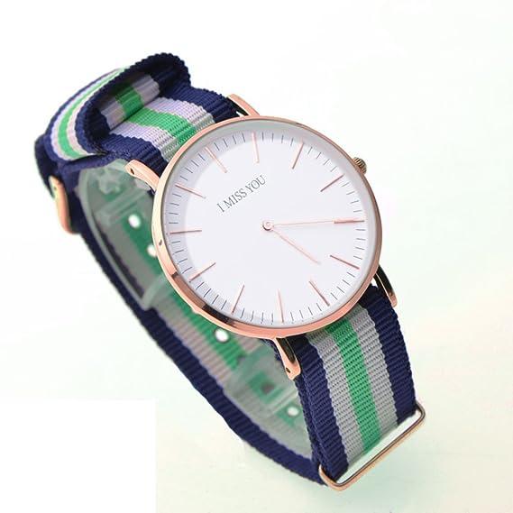 Moda casual relojes/Relojes de cuarzo resistente al agua/Pareja de hombres y mujeres relojes-H: Amazon.es: Relojes