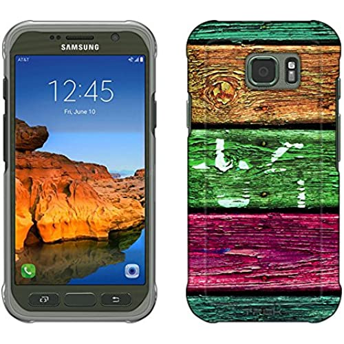 Samsung Galaxy S7 Active Case, Snap On Cover by Trek Orange Green Pink Wood Slim Case Sales
