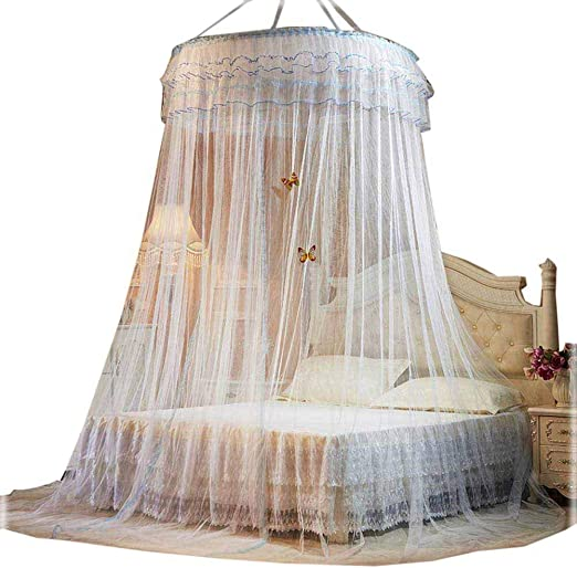 POPPAP Bed Canopy, Children Boys Girls Bedroom Decor Bed Curtain Dream Tent  White Color Large Size (Little Princess)