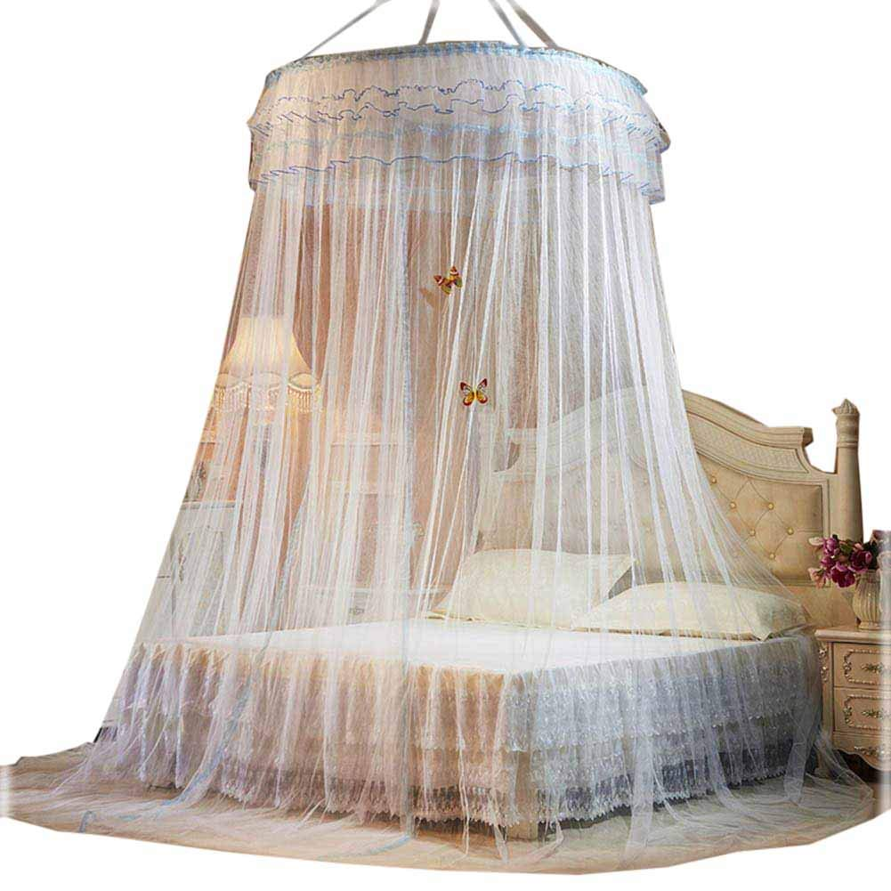 POPPAP Girls Bed Net Canopy Drapes,Children Boys Mosuito Curtain Queen Large Size by POPPAP (Image #1)