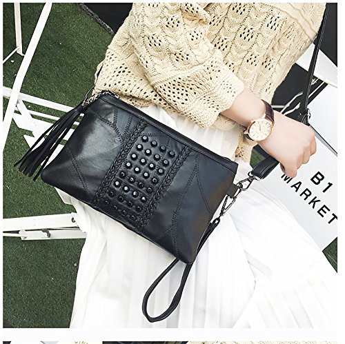 Stitching New Purse Messenger Rivets Crossbody Handbags Shoulder For Knit Small Bags Bag Bags B Women Ixx7Xv