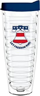 product image for Smile Drinkware USA-LET FREEDOM RING 26oz Tritan Insulated Tumbler With Lid and Straw
