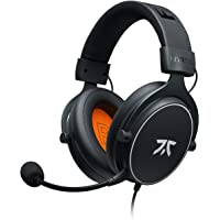 Fnatic REACT Gaming Headset for PS4/PC with 53mm Drivers, Stereo Sound & In-Line Control, Over-Ear Soft Memory Earpads, Compatible with Xbox One/Mobile/Switch/Wii U/Mac