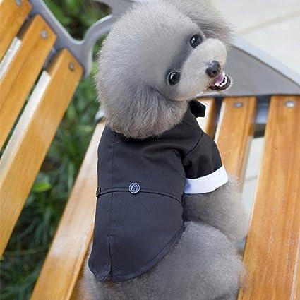 POPETPOP Traje de Boda de Perro Tuxedo Dapper Traje de Perro ...