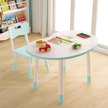 ZH Conjunto Mesa y Silla Infantil para niños de 2 a 10 años, con 2 sillas,