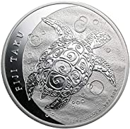 2013 NZ New Zealand 5 OZ Silver $10 Niue Hawksbill Turtle Coin $10 Brilliant Uncirculated