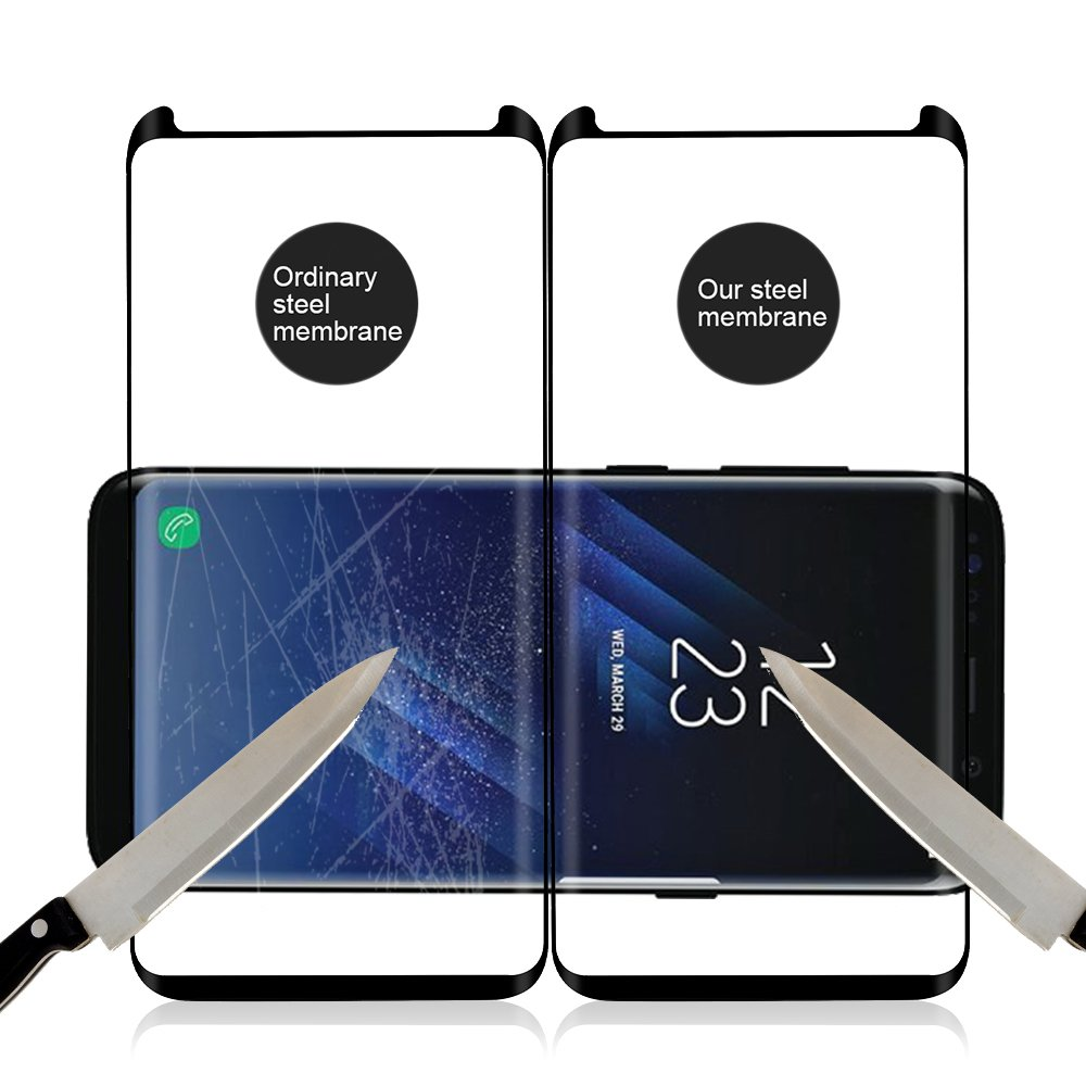OTAO Galaxy S8 Tempered Glass Screen Protector [Update Version], Easy Installation [Case-friendly] Samsung S8 Tempered Glass Screen Protector with Installation Tray For Galaxy S8 by OTAO (Image #5)
