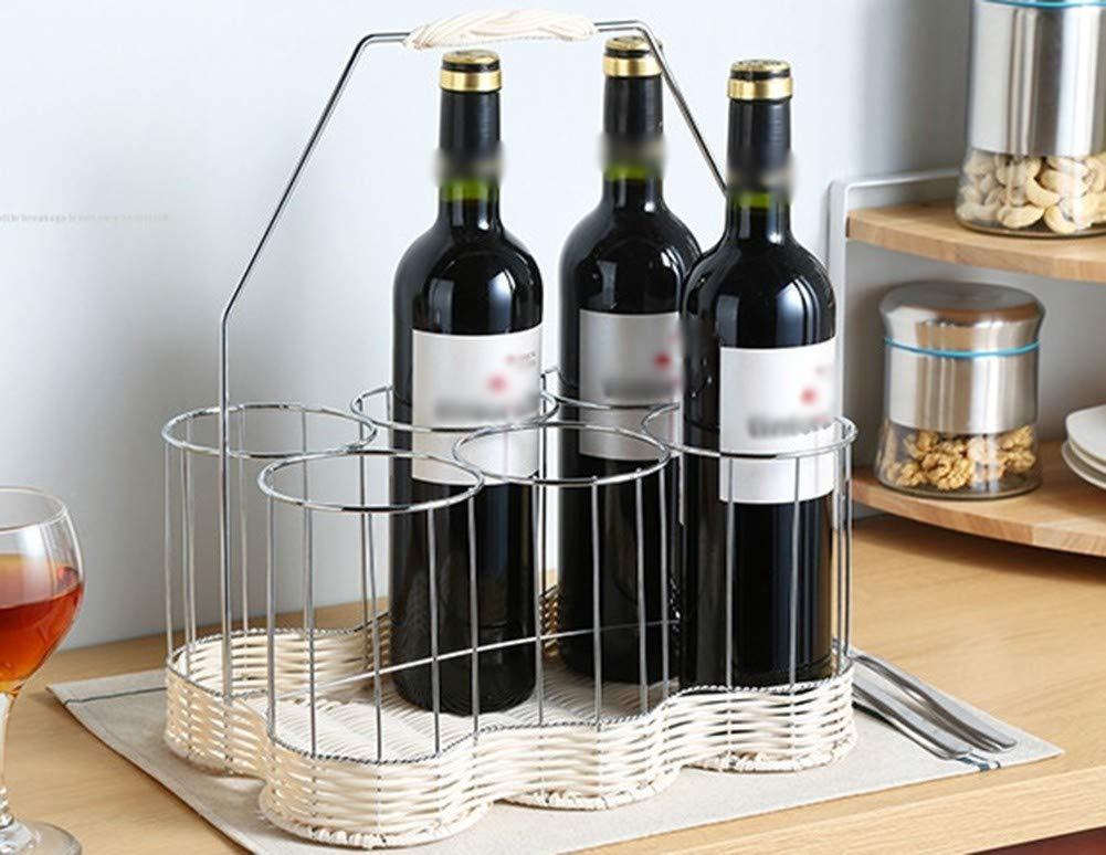 WSGZH Estante del Vino Estilo Estilo Estilo Europeo Acero Inoxidable Estante del Vino Hogar Hogar Simple Estante del Vino Decoración Creativa Botella De Vino cf1c20