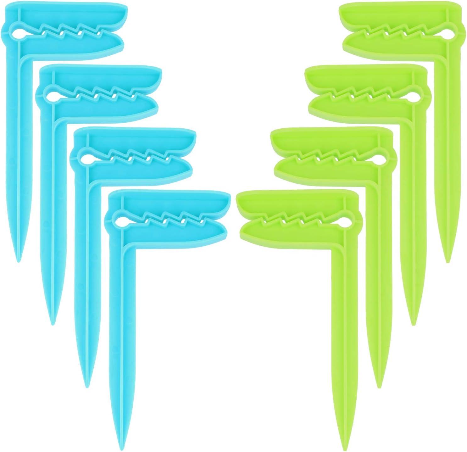 Les Voyages Id/éal pour la Plage com-four/® 4X Attaches pour Serviettes de Plage 04 pi/èces - Hareng//Bleu Le Camping ou Les Pique-niques Attaches pour Serviettes /à Fixer