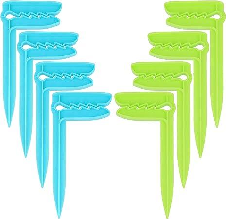 i Viaggi Il Campeggio o Il Picnic Clip per Asciugamano per Il Fissaggio com-four/® 4X Clip per Teli da Mare 04 Pezzi - Aringa//Blu Ideale per la Spiaggia
