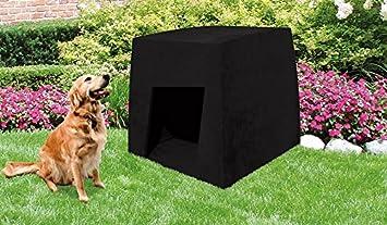 Caseta para perro DOG HOME NEGRA - Hormigón reforzado - 44cm
