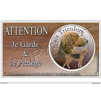 Panneau chien ou plaque Francais-Tricolore 20 cm