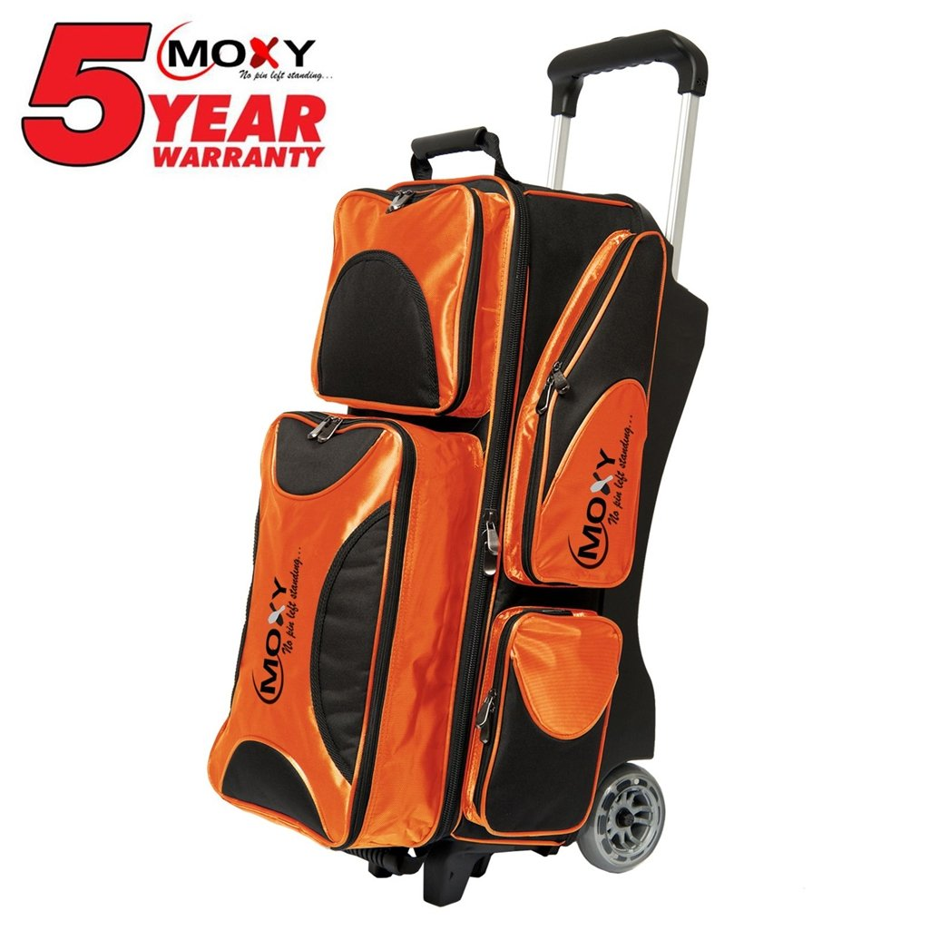 Moxy Deluxe Triple Roller Bowling Bag- Orange/Black () by Moxy Bowling Products