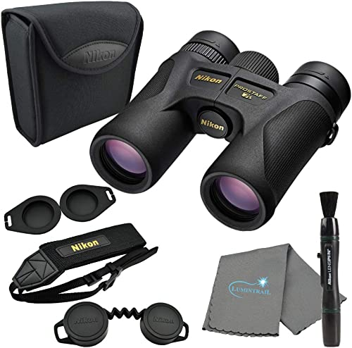 Nikon 16001 10×30 Prostaff 7S Binoculars Bundle with Nikon Lens Pen and Lumintrail Cleaning Cloth