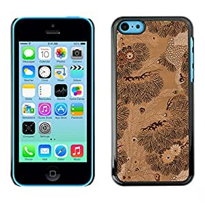 MOBMART Carcasa Funda Case Cover Armor Shell PARA Apple iPhone 5C - Up In The Woods