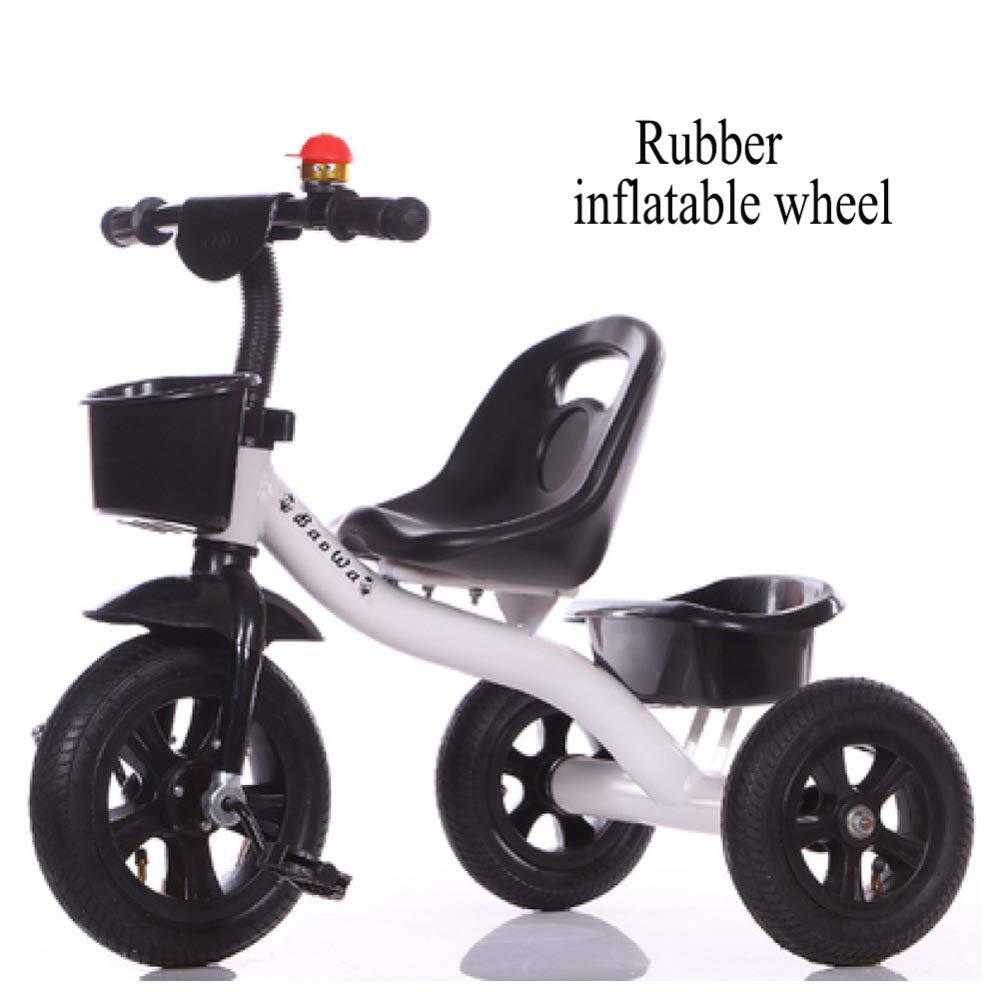 GSDZN - Triciclo para Niños Triciclo Baby El Asiento Se Puede Ajustar, Rueda Suave/Rueda De Goma EVA, 2-6 Años,F