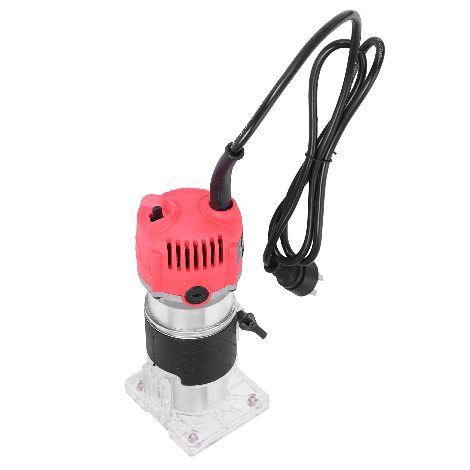 Moligh doll New 620W 110V Wood Trim Router 6.35mm Collection Diameter Electric Manual Trimmer Woodworking Laminated Palm Router Woodworking Tools US Plug