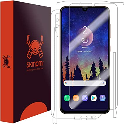 Skinomi Full Body Skin Protector Compatible with Samsung Galaxy A20 SM-A205G-DS TechSkin Full Coverage Clear HD Film Screen Protector + Back Cover