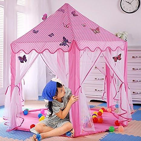 Princess Castle Play House Children Fun Netting Outdoor Intdoor Kids Play Tent
