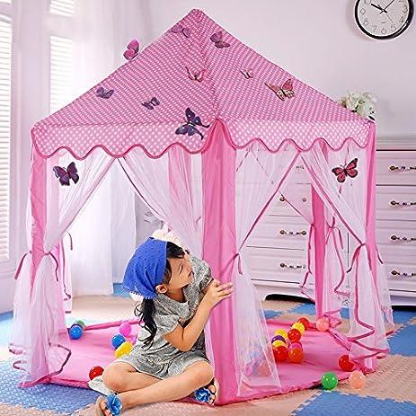 Amazon.com: Princess Tent,R.Smile Kids Baby Play Tent House Large ...