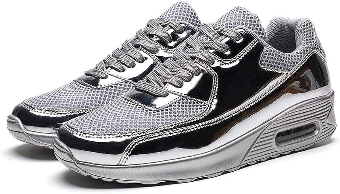 Zapatillas de Malla para Hombre Zapatos Running Deportivas ultraligeras Transpirables Deportivas Plateado 44: Amazon.es: Zapatos y complementos