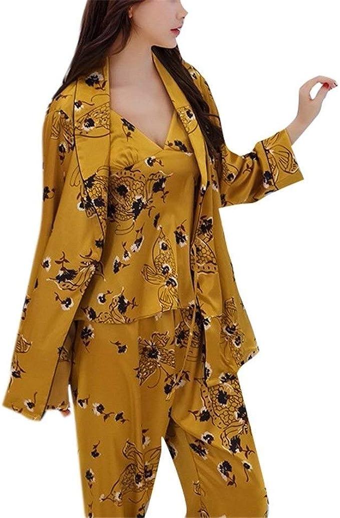Pijamas Inicio De Wearsilk De La Mujer Impreso Ropa Arnés ...