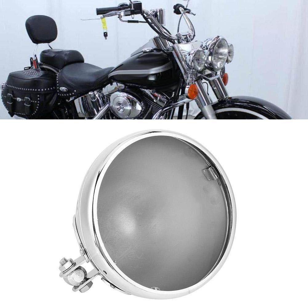 Noir YANG Phare Couverture Logement de Montage de Phare de Moto,5,75 Pouces Seau Logement Phare,Support Inferieur de Phare en Alliage de Modification