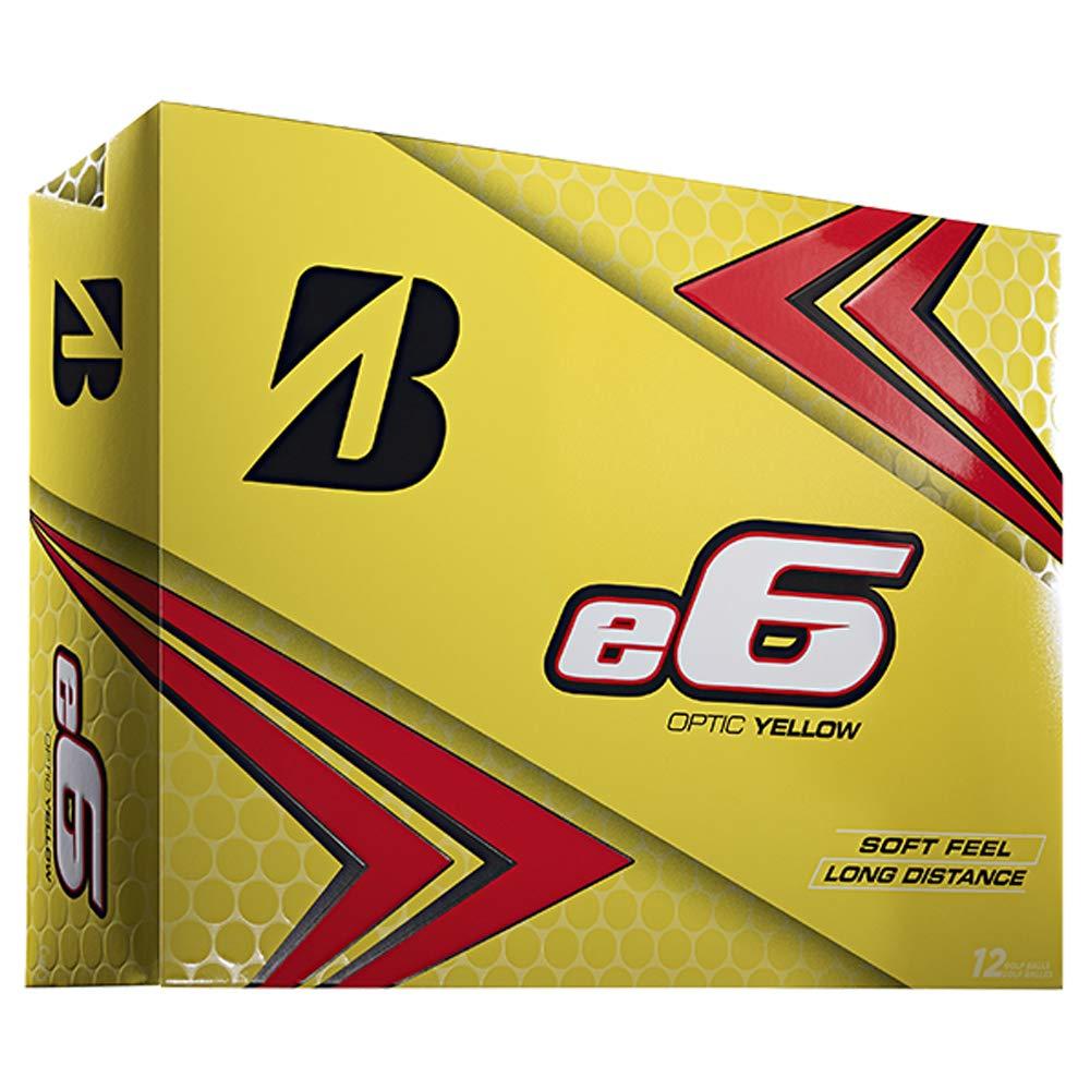 Briddgestone 2019 e6 Yellow Golf Balls (One Dozen) by Bridgestone