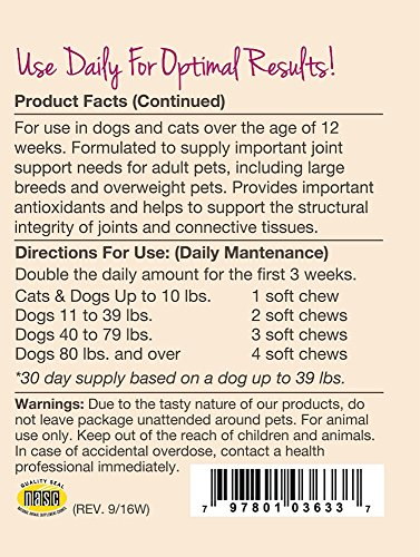 Image of NaturVet Joint Health Moderate Care Dog Soft Chews, 70 chews