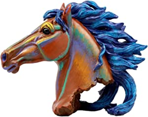 Ebros Gift Wild and Free Colorful Horse Head Bust Figurine 8.25