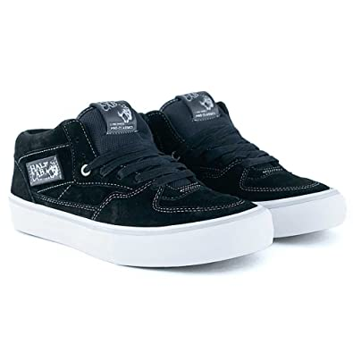 5896f8de56f5f4 Vans Half Cab Pro 25th Anniversary Black Silver Skate Shoes  Amazon.co.uk   Shoes   Bags