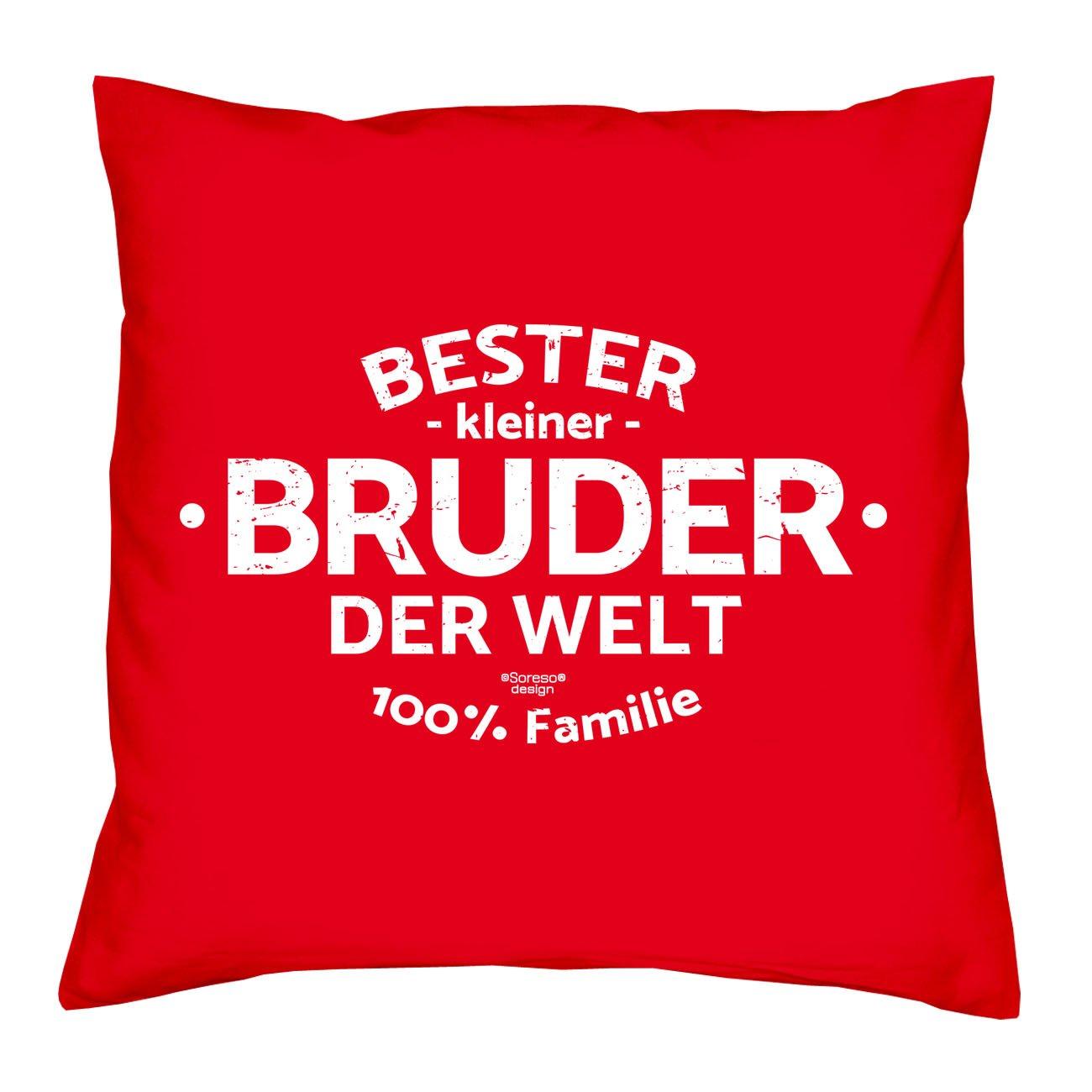 Geschenk-Set : Kissen & Urkunde A5 : Bester kleiner Bruder der Welt ...