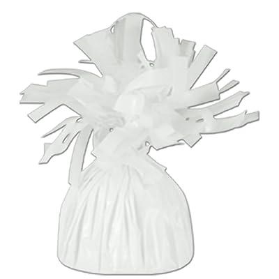 White Metallic Balloon Weight, 6oz 6 Per Pack: Toys & Games