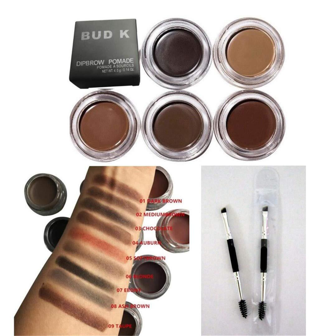 Cosmetics Brown Color Eyebrow Enhancers Waterproof Eye Kleancolor Brow Pomade Filler Gel Brush Definer Pencil Duo Chocolate Beauty