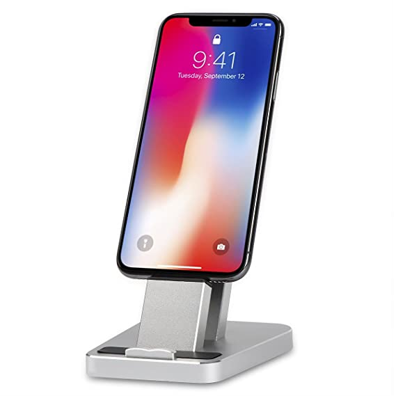 36bb0a3382290f Charging Dock for iPhone, Aluminum iPhone Desk Charger Stand Dock Station  Holder for iPhone X