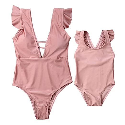 0f14a59cfaca3 Image Unavailable. Image not available for. Color: Mommy and Me Matching  One Piece Swimsuit ...
