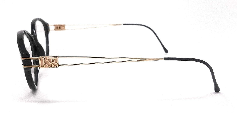 Nina Ricci - Gafas de vista para mujer NR 2471 negro y oro ...