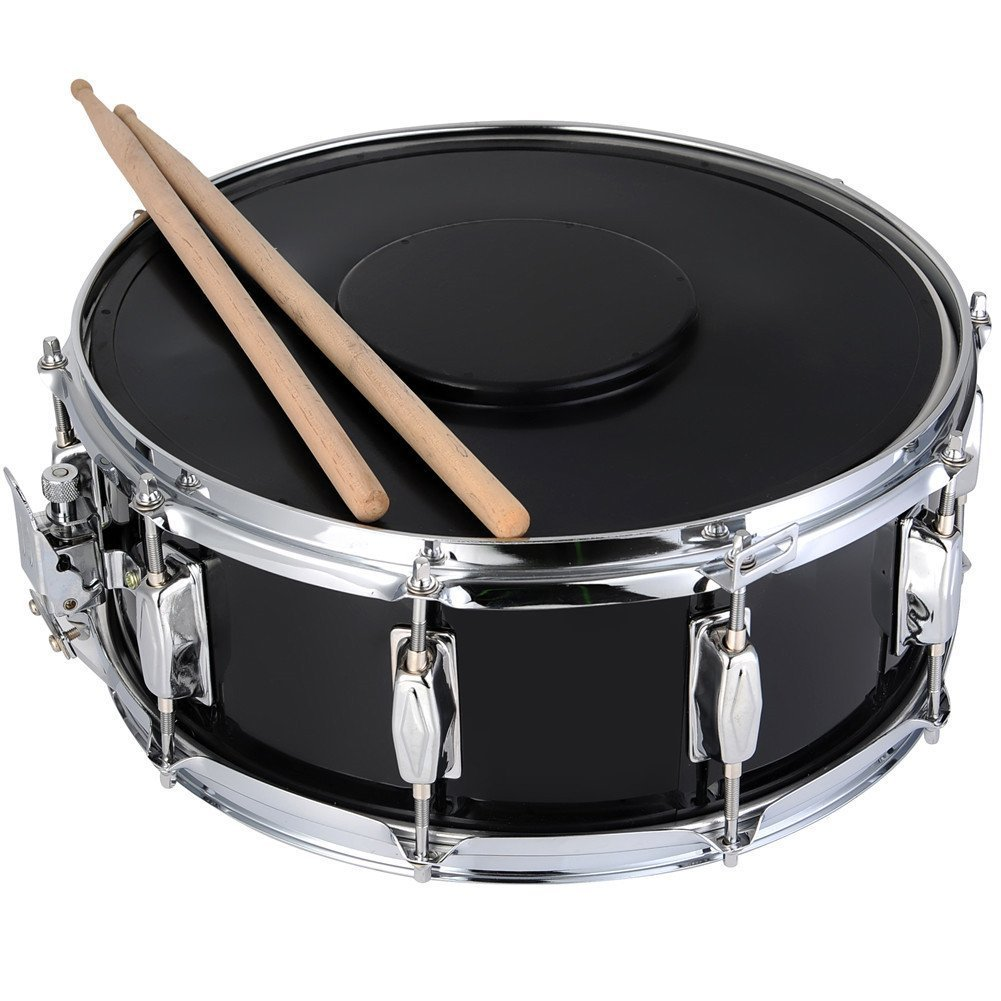 adm student chrome snare drum set with case sticks stand and practice pad kit ebay. Black Bedroom Furniture Sets. Home Design Ideas